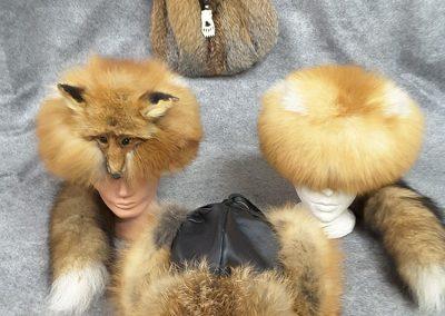 Chapeau renard(Confection de vêtements et accessoires en fourure sur mesure Québec) Taxidermie Asselin Québec